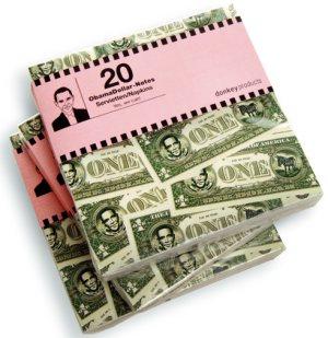 Obama-Dollar Servietten und Notizblock