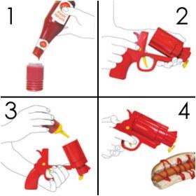 Pistole Senf Ketchup 2