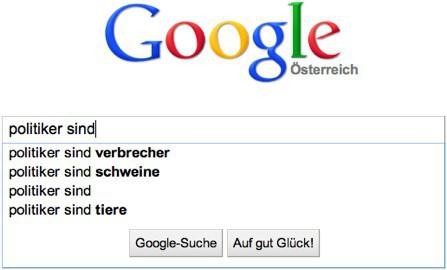 Was Google von Politikern hält...