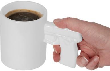 """Tasse """"Pistole"""" - Gut gerüstet für den Tag"""