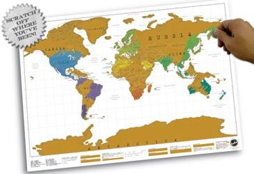 [Weihnachtstipp] Rubbel-Weltkarte für Weltenbummler