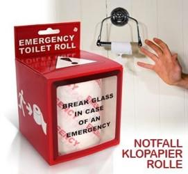 Notfall Klopapier - In Case of Emergency am stillen Örtchen