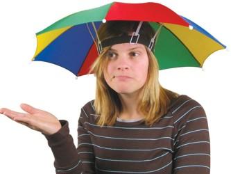 Regenschirm Hut - Die Schlechtwetter-Kopfbedeckung