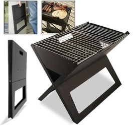 bbq notebook grill grabt den klapp grill aus. Black Bedroom Furniture Sets. Home Design Ideas