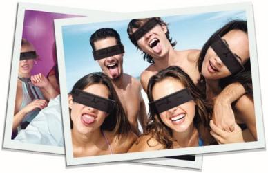 Die anonyme Brille: Zensurbalken als Modeaccessoire