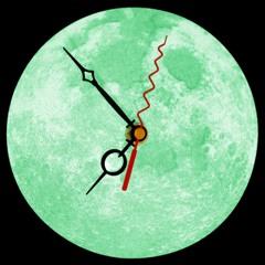 """3D Mond Uhr """"Glow in the Dark"""" - Mond als Wanduhr"""