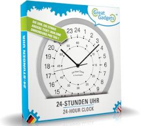 24 Stunden Wanduhr - Uhr mit so vielen Stunden wie der Tag