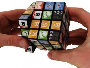 Rubik's Cube Zauberwürfel im App-Design