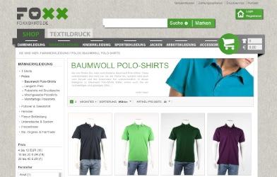 Individuelle Poloshirts bedrucken mit foxxshirts.de