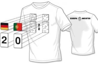 Results Shirt EM 2012: Die Fußball-Ergebnisse auf dem T-Shirt