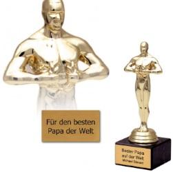 Oscar statue mit gravur