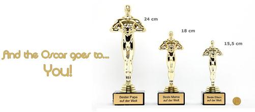 Oscar-Statue mit Gravur als einzigartige Geschenkidee kaufen