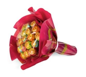 Blumengrüße in Form von Lutschern: Lolli-Baum & Lutscher-Bouquet