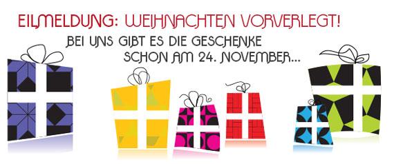 [Gewinnspiel] Weihnachten am 24. November... nur bei uns!