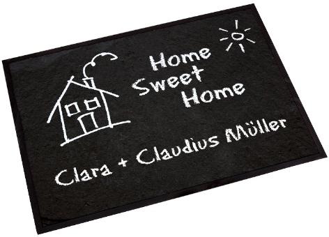 home sweet home fu matte als tolles geschenk zum einzug. Black Bedroom Furniture Sets. Home Design Ideas