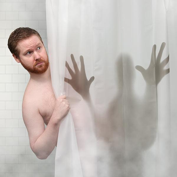Horror Duschvorhang – Mörder verstecken sich immer in der Dusche