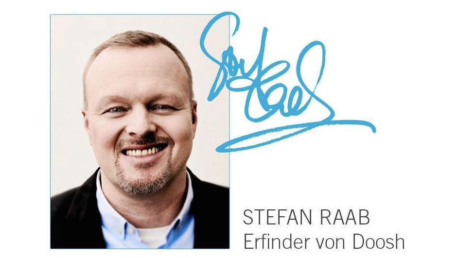 stefan raab s duschkopf doosh zum duschen ohne nasse. Black Bedroom Furniture Sets. Home Design Ideas