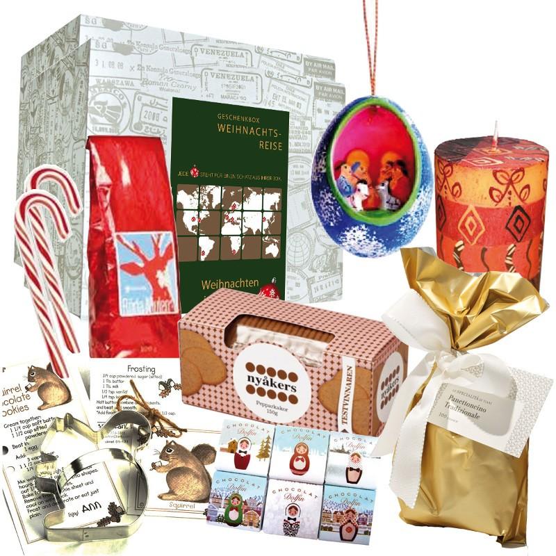 """Weihnachtsbox """"Around the World"""" als Geschenk für Weltenbummler"""