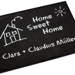 """""""Home Sweet Home"""" Fußmatte als tolles Geschenk zum Einzug"""