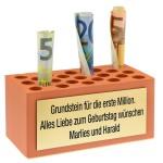 Geldgeschenk-Idee: Grundstein für die erste Million