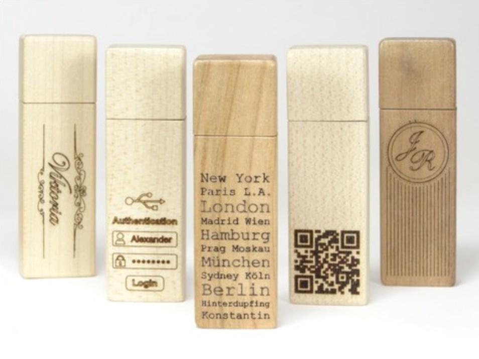 Exklusive Holz USB-Sticks mit persönlicher Gravur