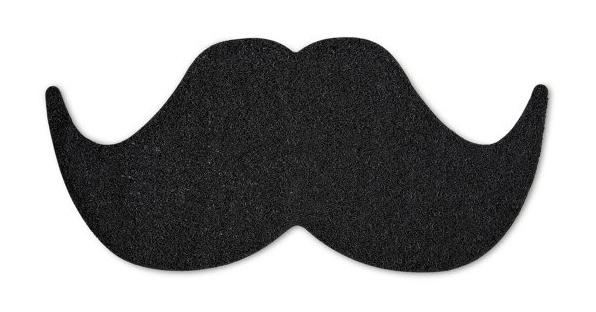 Riesen-Schnurrbart als lustige Fußmatte
