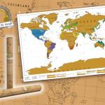 Die Rubbel-Weltkarte dokumentiert eure bereits besuchten Länder