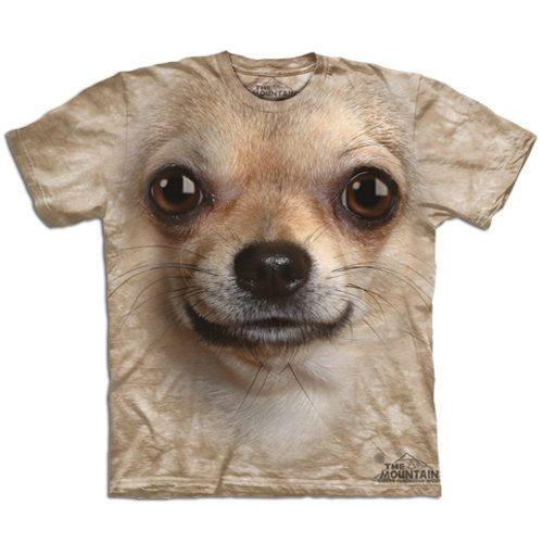 Big Face 3D Tier T-Shirt Chihuahua Hund