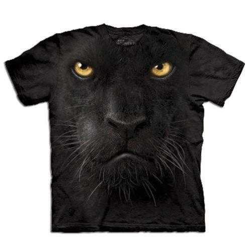 Big Face 3D Tier T-Shirt Schwarzer Panther