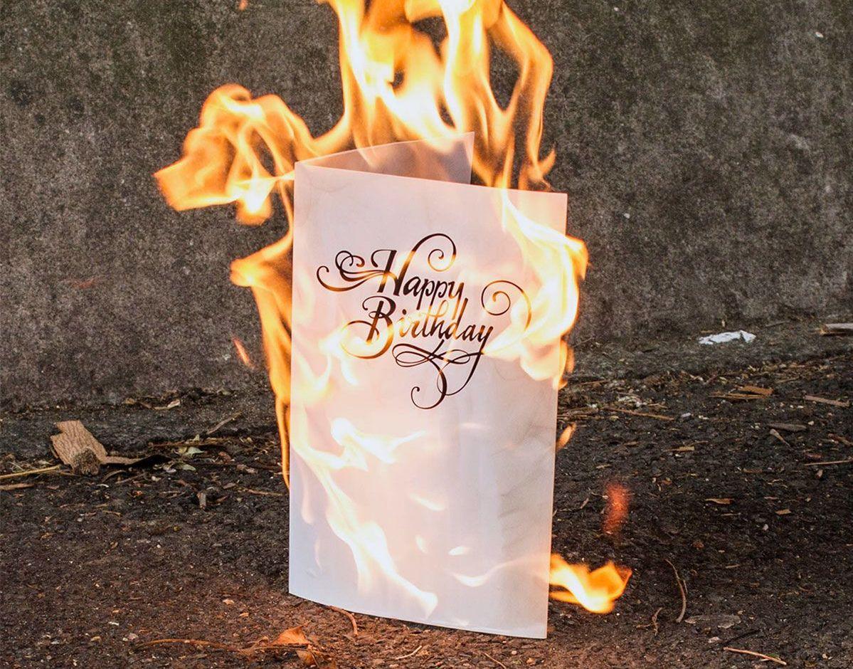 Die Singende Geburtstagskarte, die nicht mehr aufhört