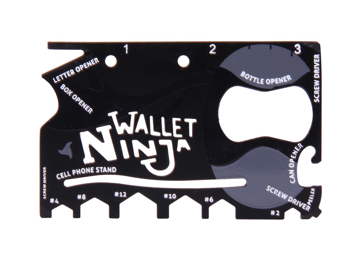 Wallet Ninja – 18in1 Multiwerkzeug für die Geldtasche