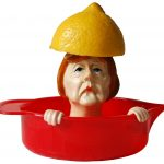 Zitruspresse Angie Saftpresse Angela Merkel